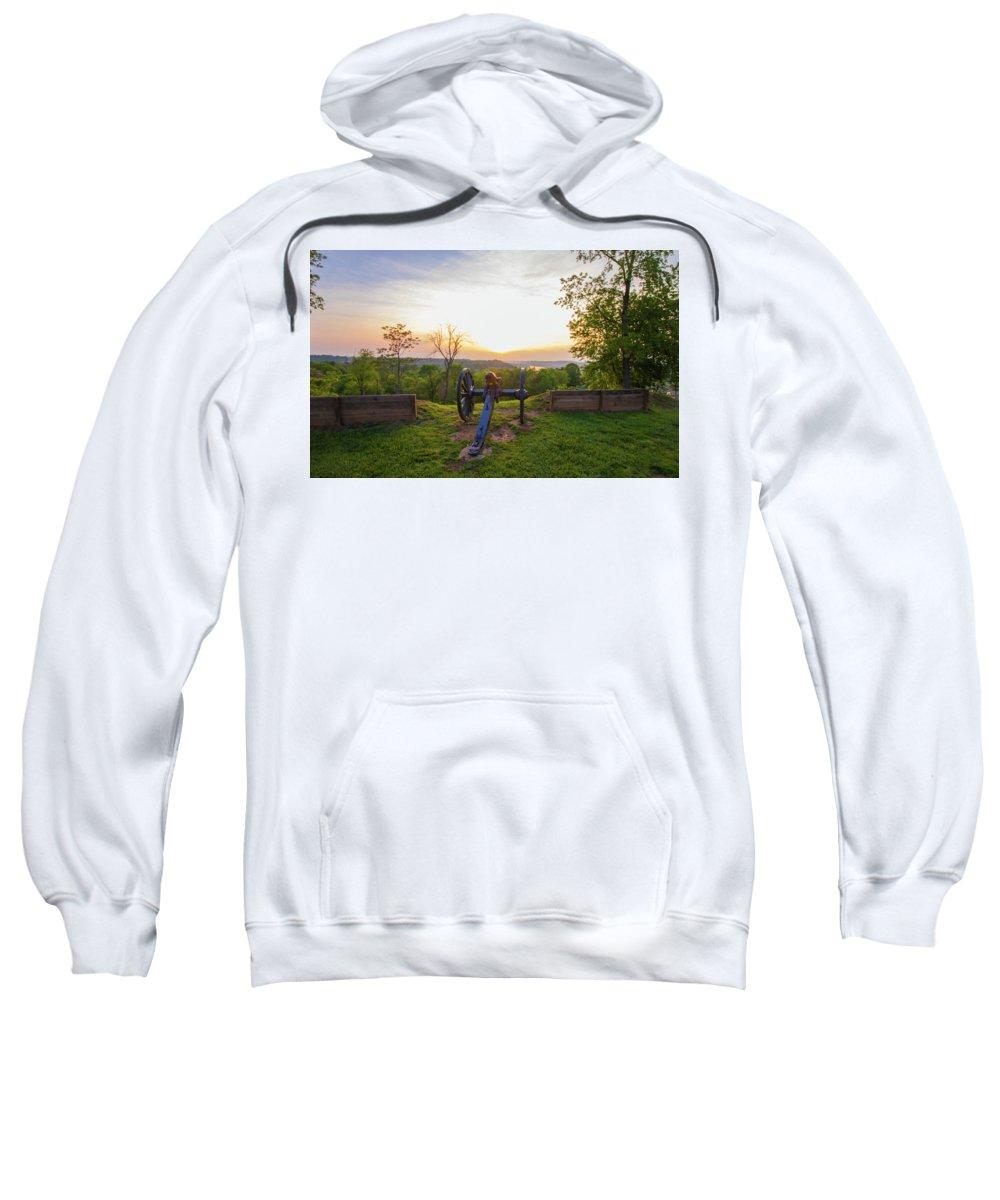 Boreman Sweatshirt featuring the photograph Cannon At Fort Boreman by Jonny D