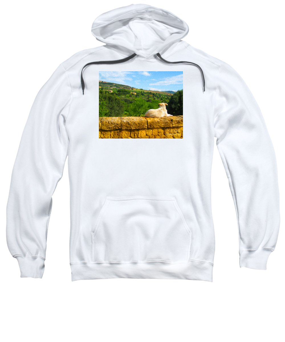 Sweatshirt featuring the digital art Cano Di Agrigento by Joseph Re