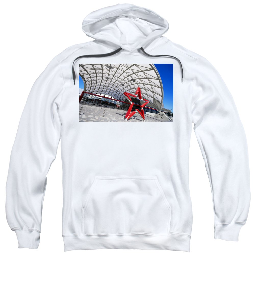 Adelaide Sweatshirt featuring the photograph Canopied by Wayne Sherriff