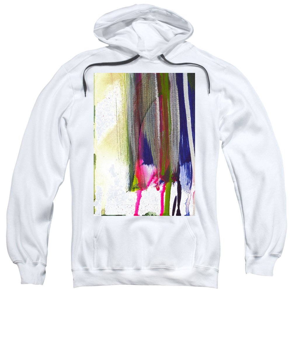 Abstract Sweatshirt featuring the painting Cantilever by Tonya Doughty