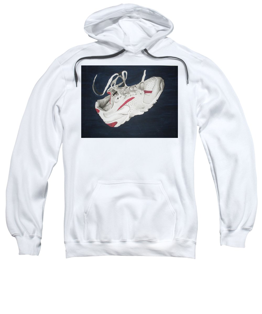 Shoes Sweatshirt featuring the painting Canvass by Olaoluwa Smith