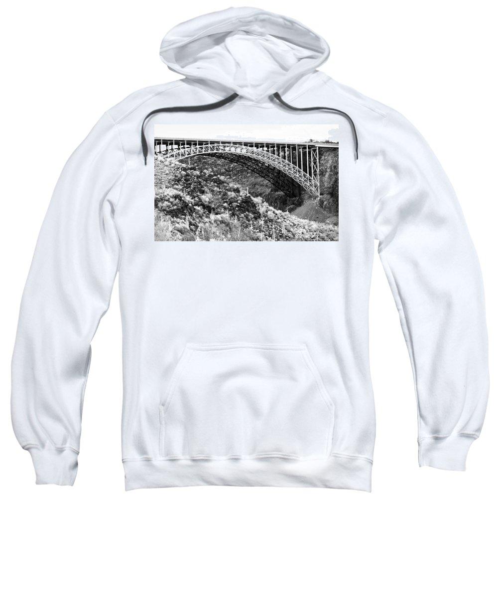 Bridge Sweatshirt featuring the photograph Canyon Bridge by Phyllis Denton