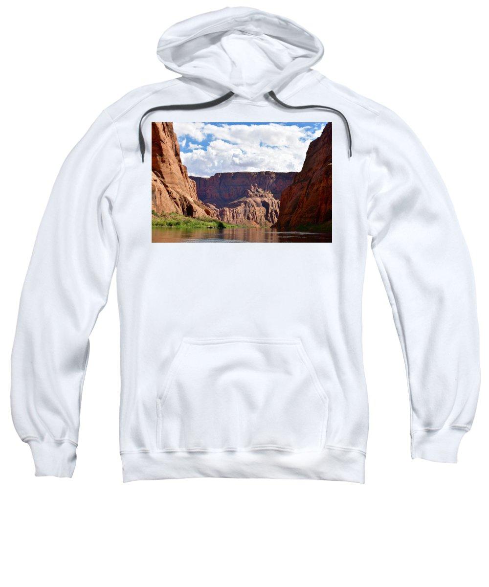 Colorado River Sweatshirt featuring the photograph Canyon Rocks by Barbara Stellwagen