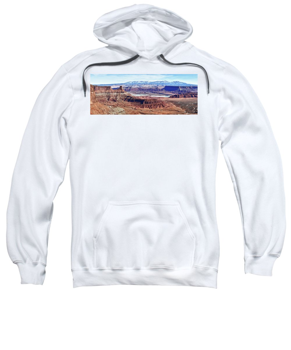 Dead Horse Point Sweatshirt featuring the photograph Canyonland Panorama by Surjanto Suradji