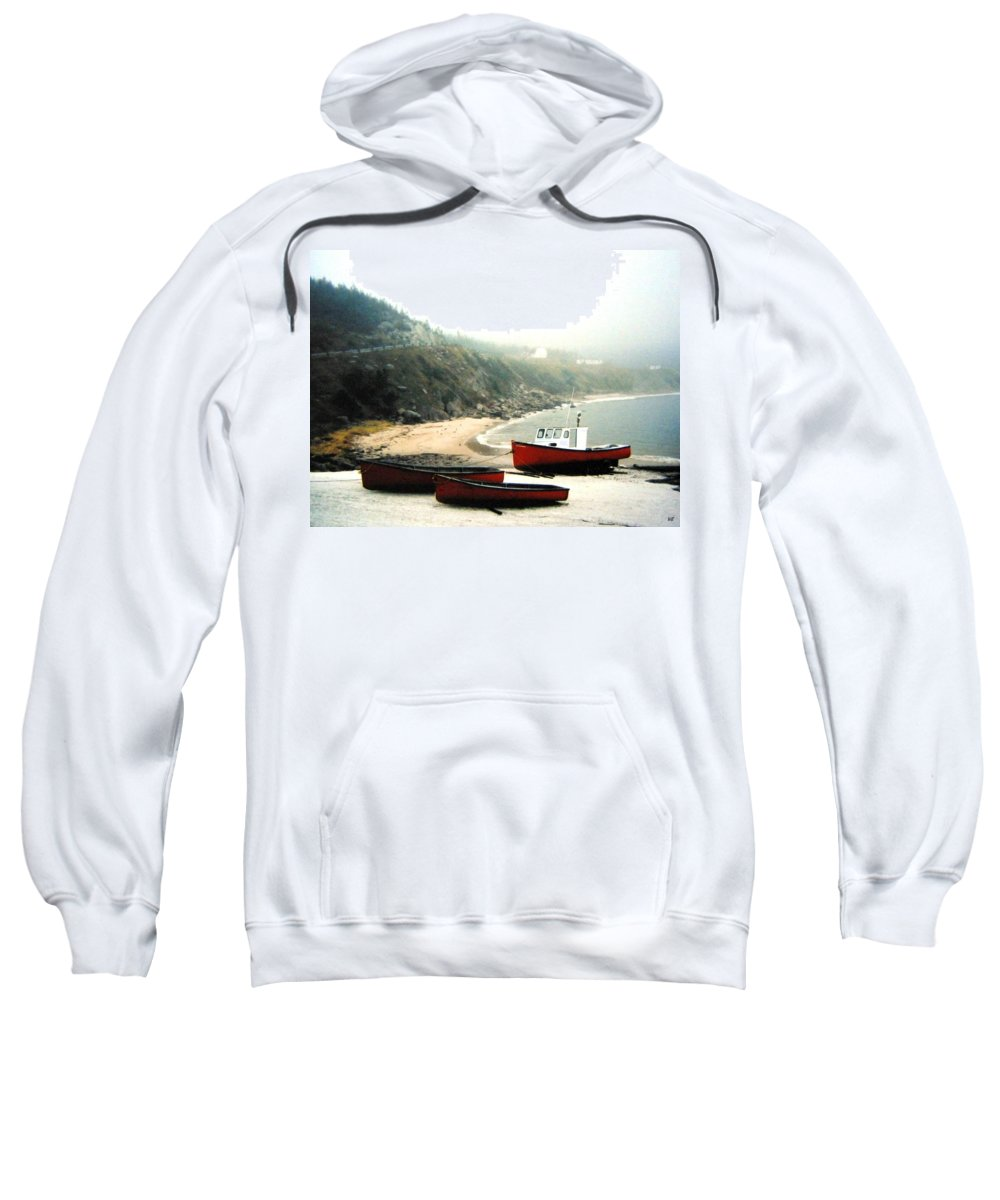 Fishing Boats Sweatshirt featuring the photograph Cape Breton Fishing Boats by Will Borden