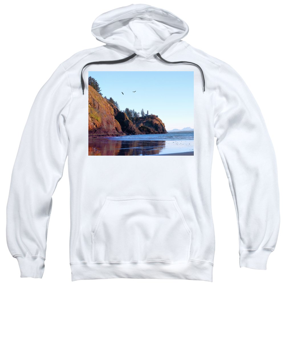 Lighthouse Sweatshirt featuring the photograph Cape Disappointment Lighthouse by Jeanette Mahoney
