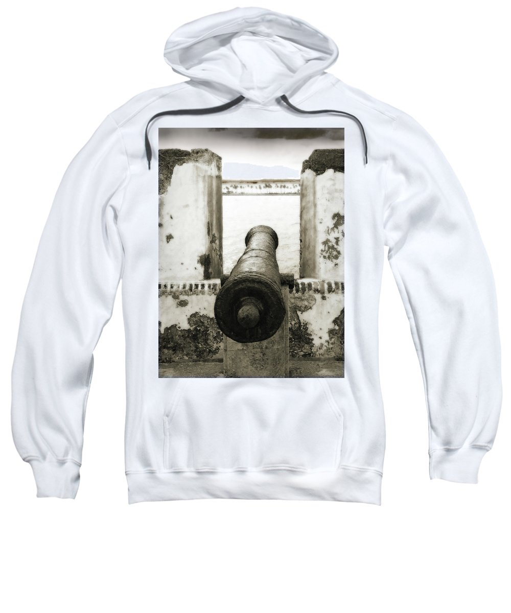 Cannon Sweatshirt featuring the photograph Caribbean Cannon by Steven Sparks