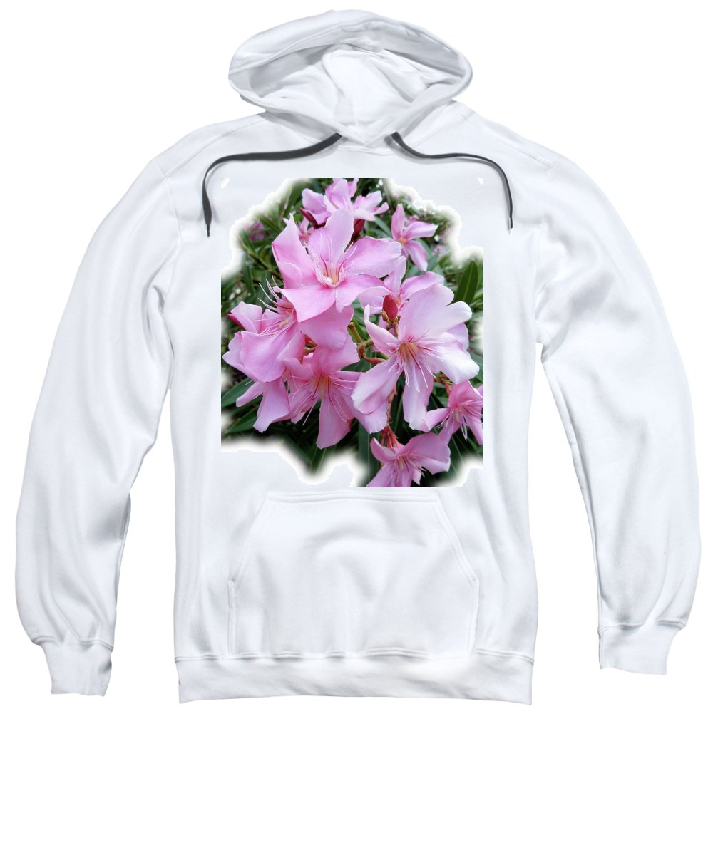 Pink Sweatshirt featuring the photograph Caribbean Oleander by Marie Hicks