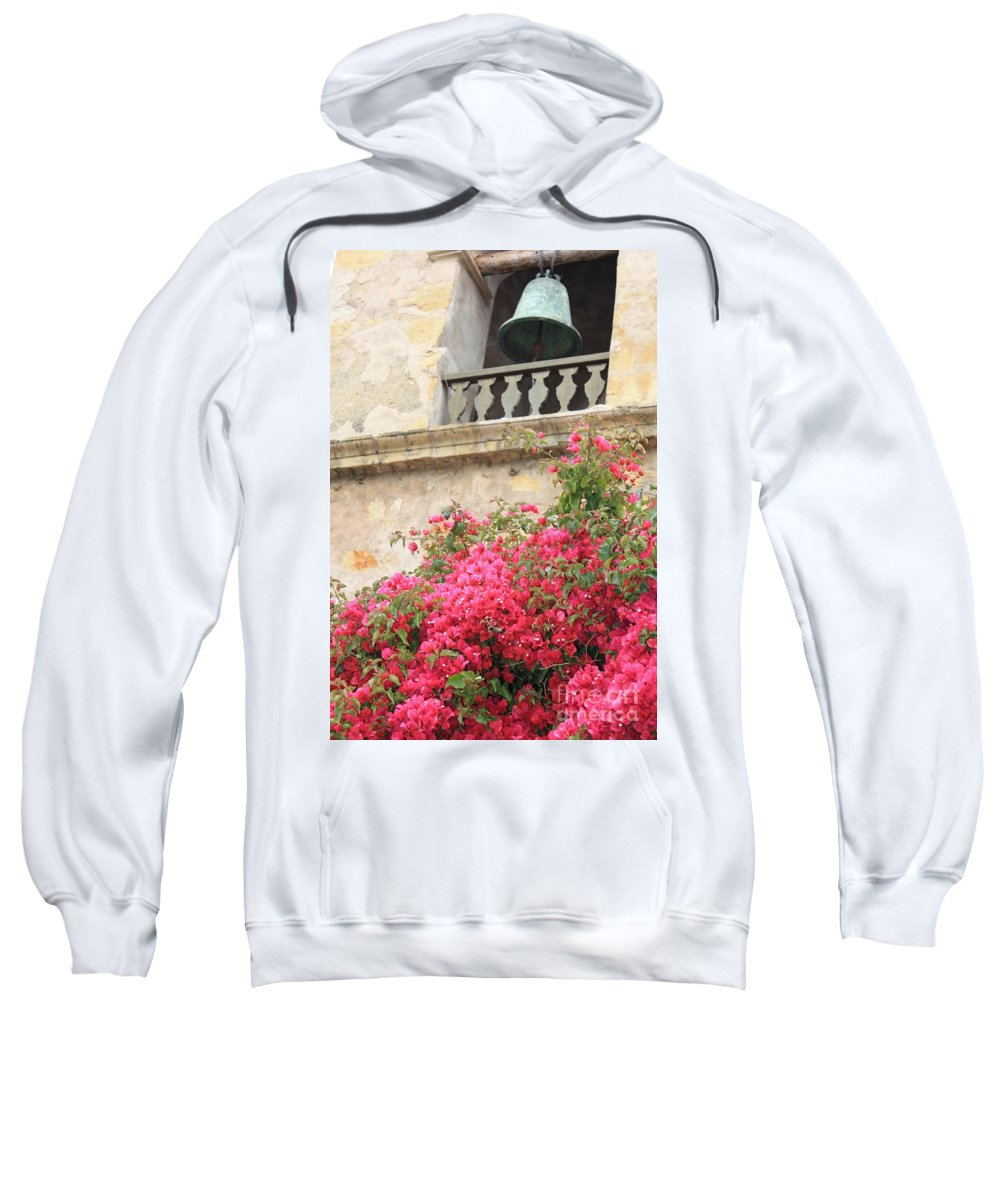Carmel-by-the-sea Sweatshirt featuring the photograph Carmel Mission Bell by Carol Groenen