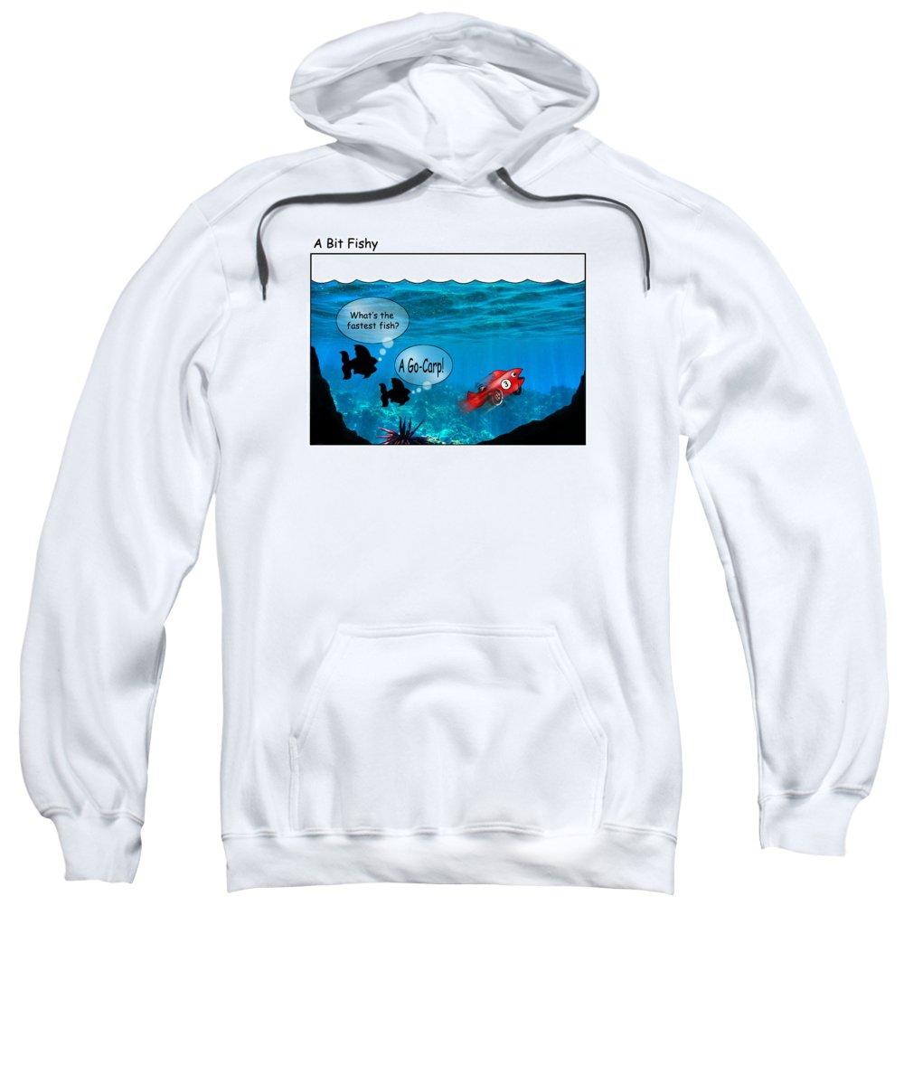 Carp2 Sweatshirt featuring the digital art Carp2 by Rick Mosher