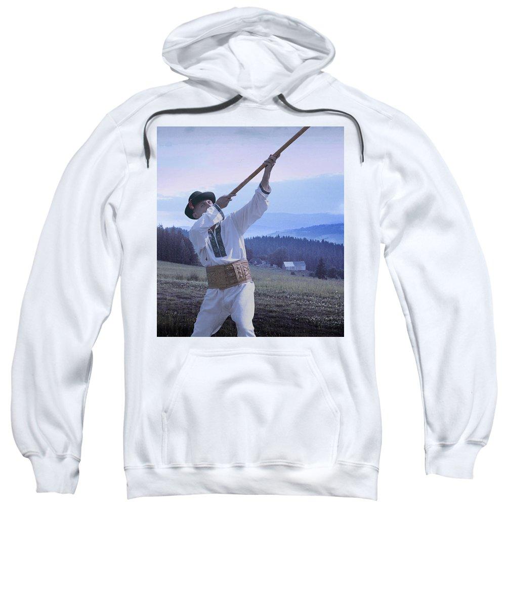 Ethnic Sweatshirt featuring the photograph Carpathian Highlander by Yuri Lev