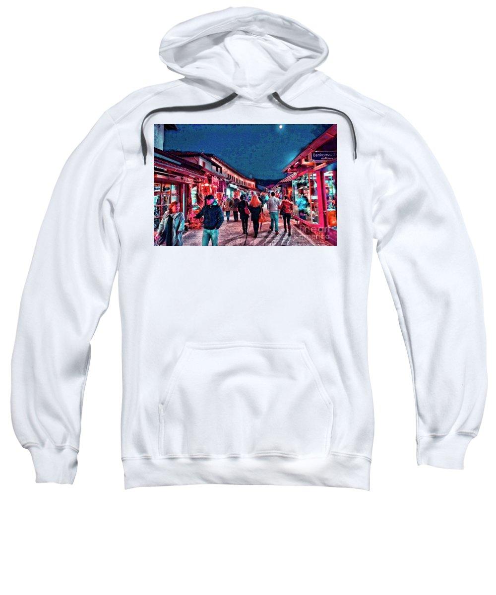 Market Sweatshirt featuring the photograph Carsija by Jasmin Hrnjic