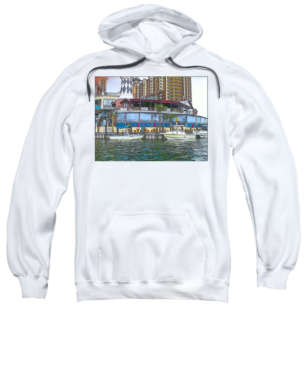 Cartoon Sweatshirt featuring the photograph Cartoon Boats by Michelle Powell
