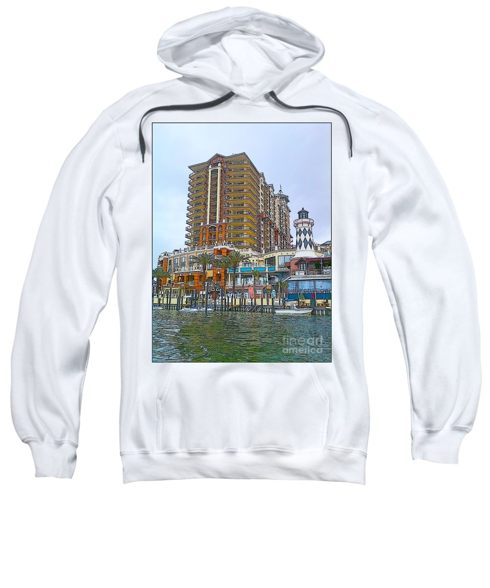 Cartoon Sweatshirt featuring the photograph Cartoon Skyscraper by Michelle Powell