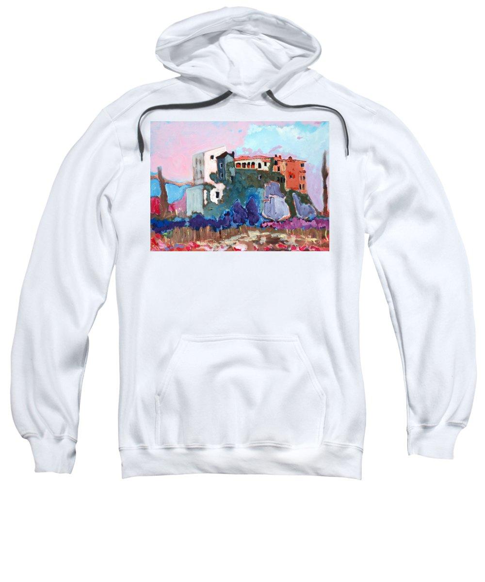 Castle Sweatshirt featuring the painting Castello by Kurt Hausmann