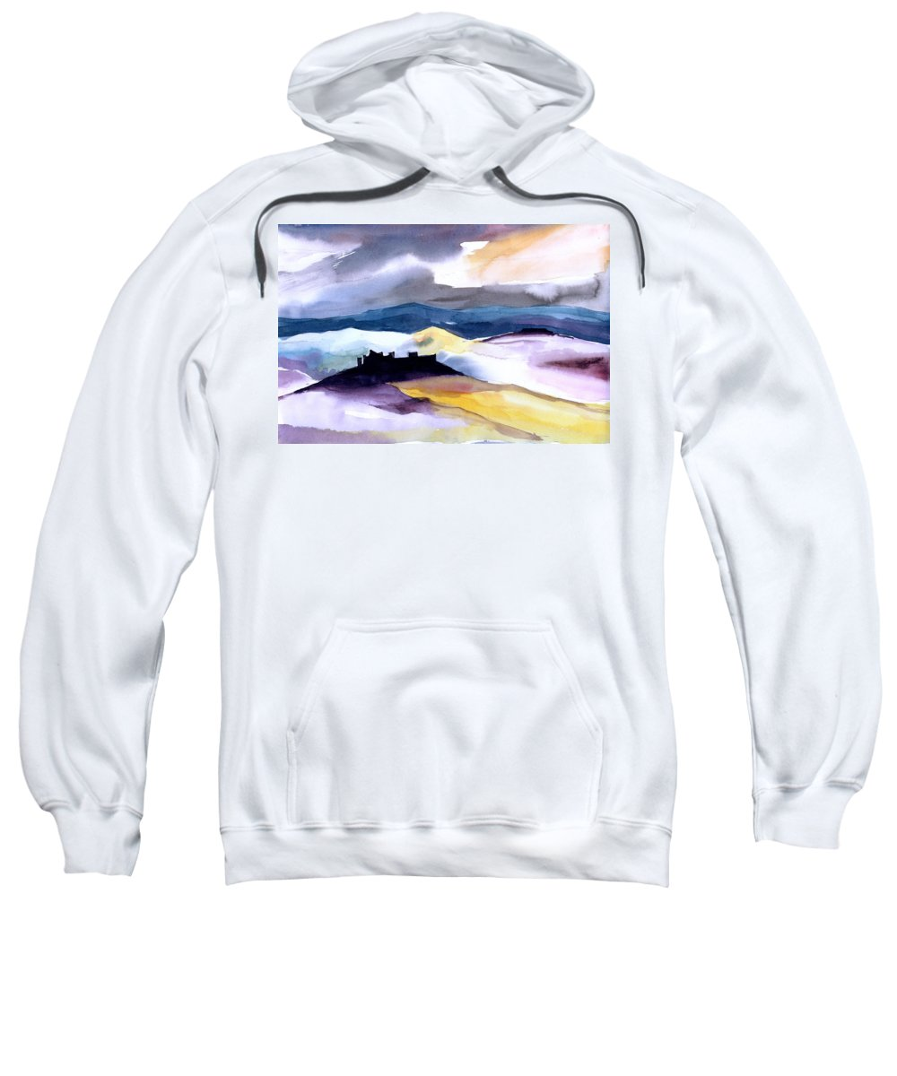 Water Sweatshirt featuring the painting Castle by Anil Nene