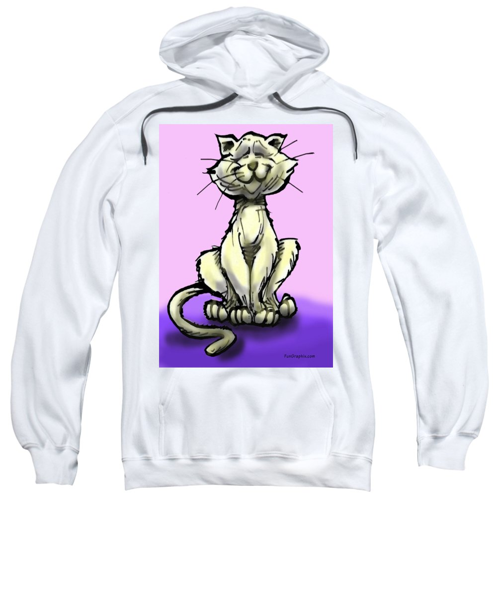 Cat Sweatshirt featuring the digital art Cat by Kevin Middleton