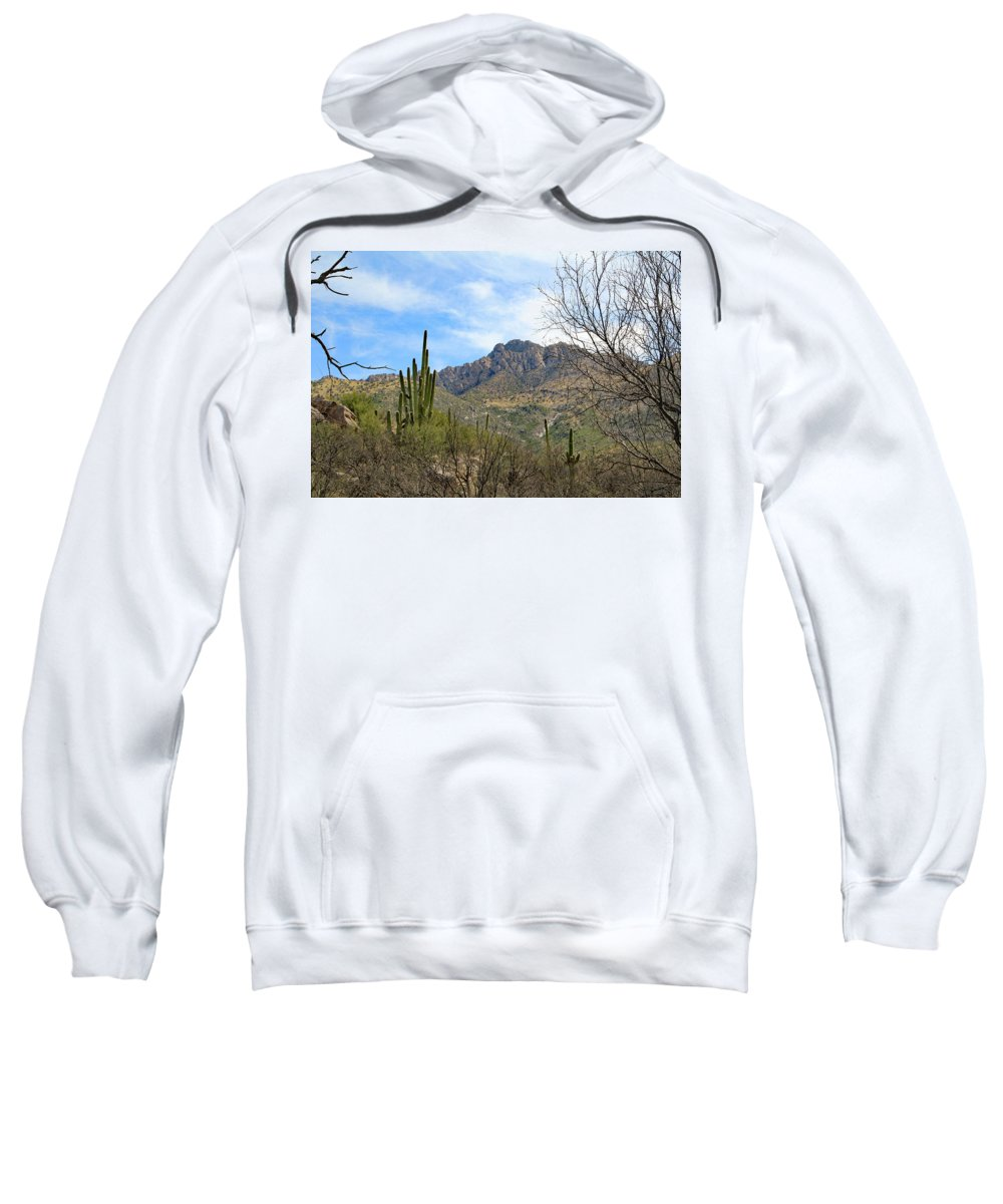 Sweatshirt featuring the photograph Catalina State Park 2 by Kevin Mcenerney