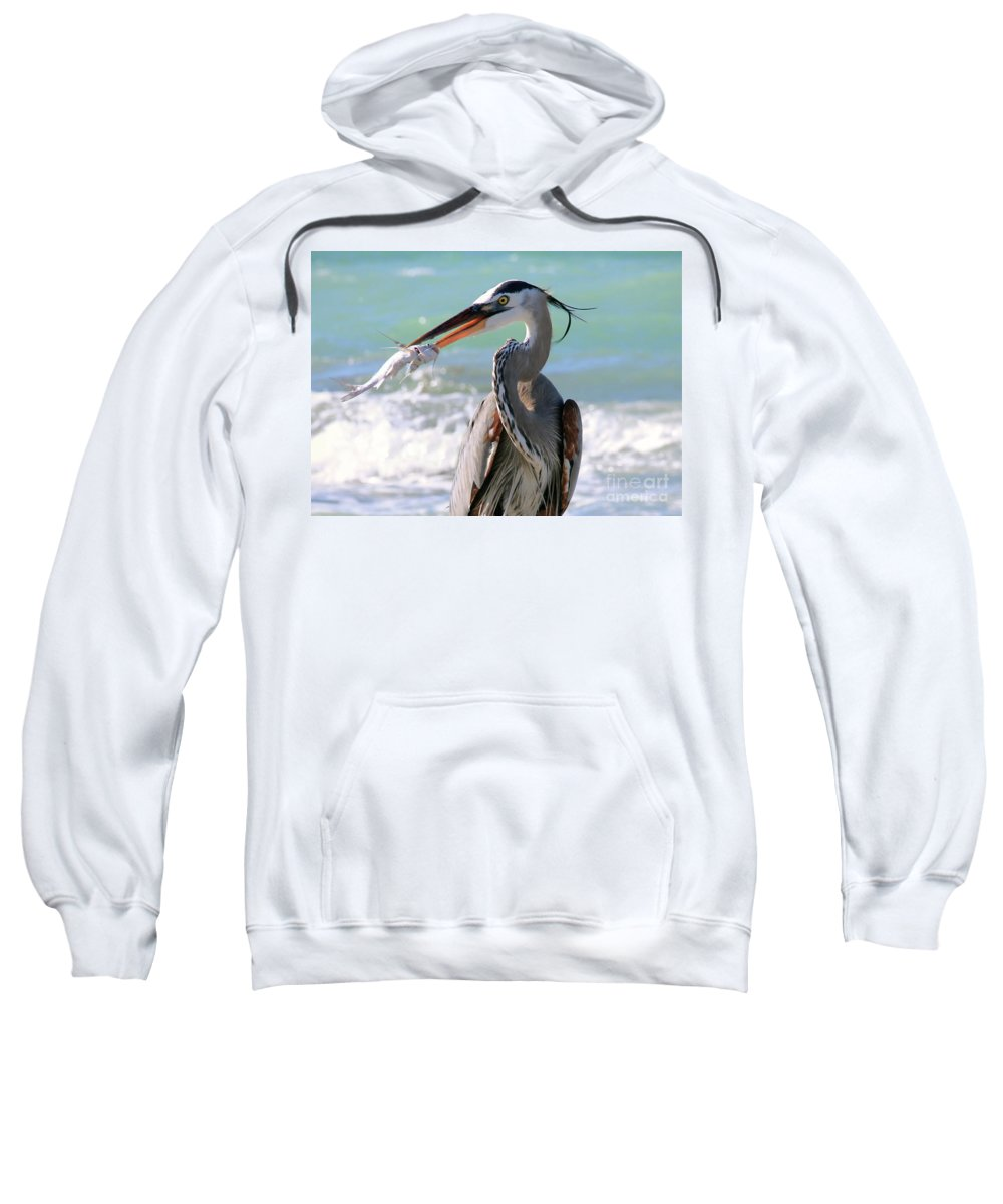 Catch Of The Day Sweatshirt featuring the photograph Catch Of The Day by Davids Digits