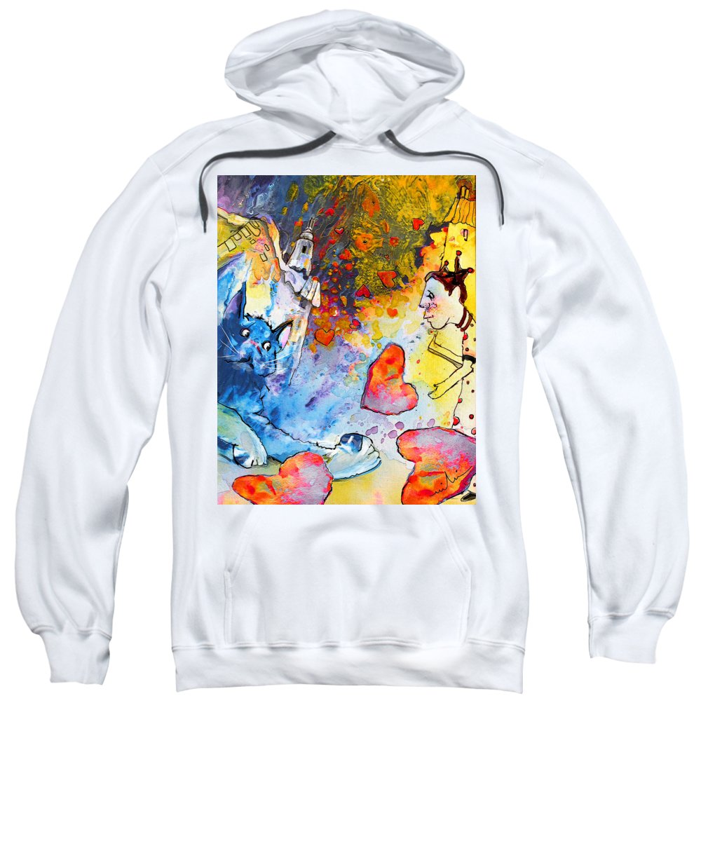 Fantasy Sweatshirt featuring the painting Catching Love by Miki De Goodaboom