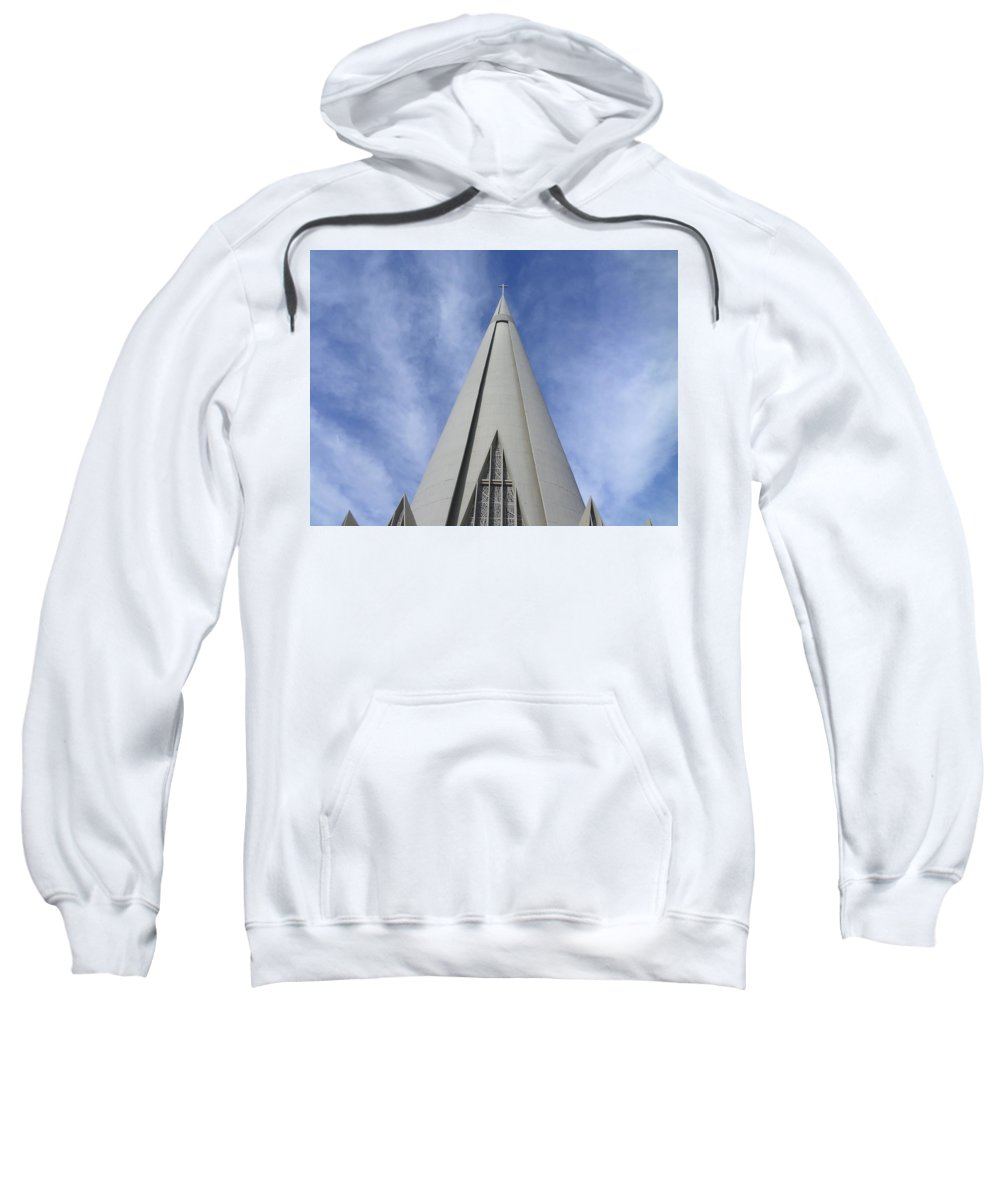Cathedral Sweatshirt featuring the photograph Cathedral Minor Basilica Our Lady of Glory by Bruna Lima