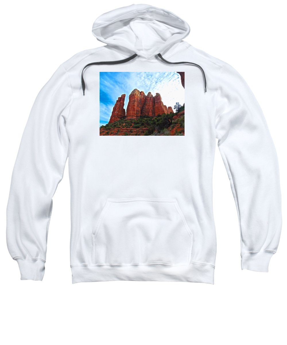 Wave Sweatshirt featuring the photograph Cathedral Rock by Michael Cappelli