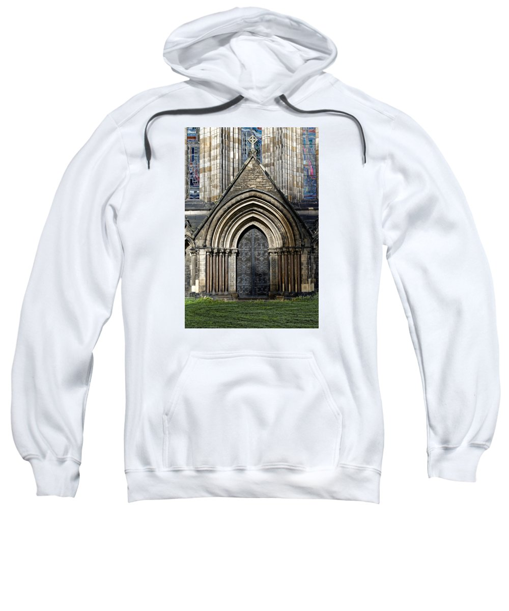 St Marys Cathedral Sweatshirt featuring the photograph Cathedral Side Door by Scott Hill