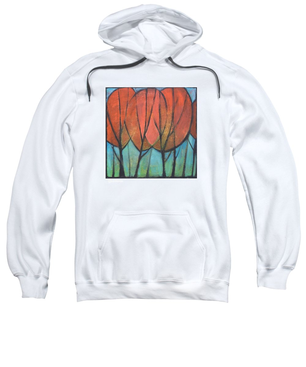 Trees Sweatshirt featuring the painting Cathedral by Tim Nyberg