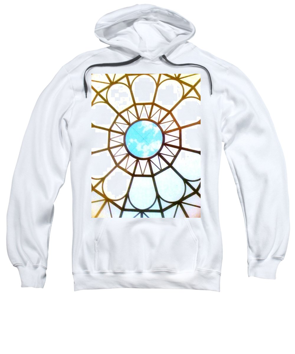 Window Sweatshirt featuring the photograph Ceiling by Donna Bentley