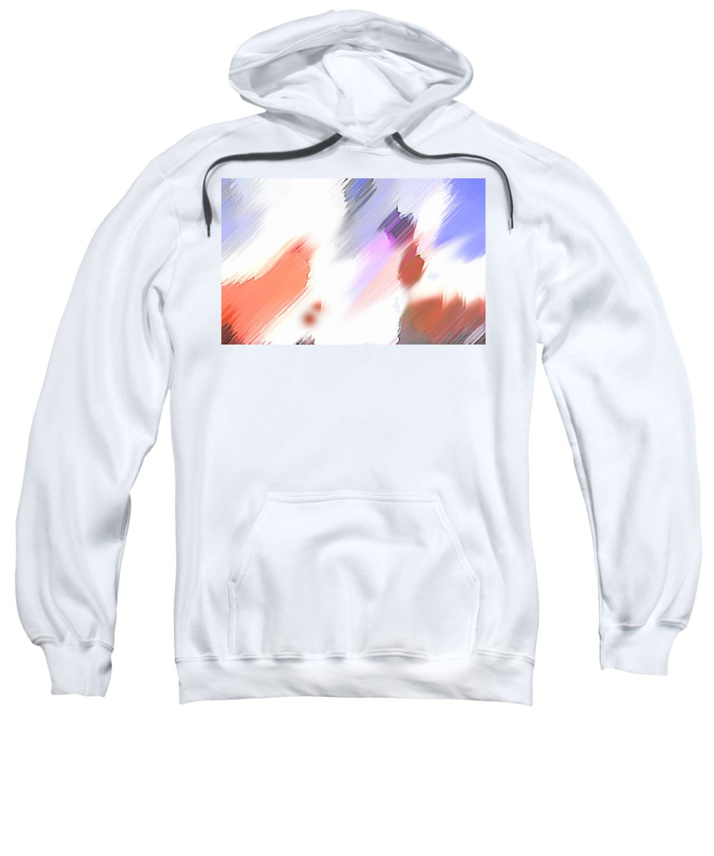 Digital Art Water Color Watercolor Light Color Sweatshirt featuring the painting Celebration by Anil Nene