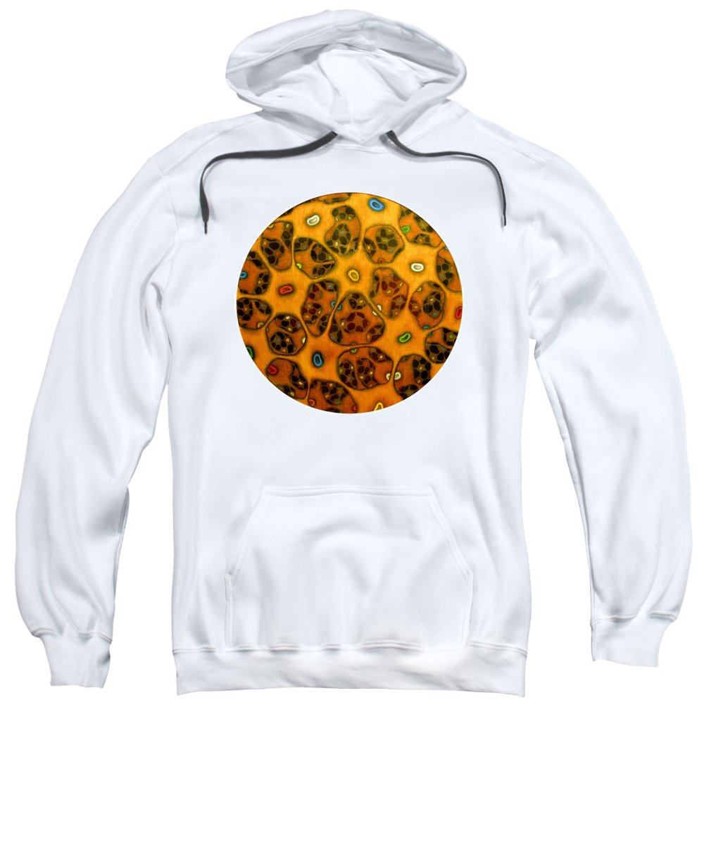 Cells Sweatshirt featuring the drawing Cell Network by Nancy Mueller