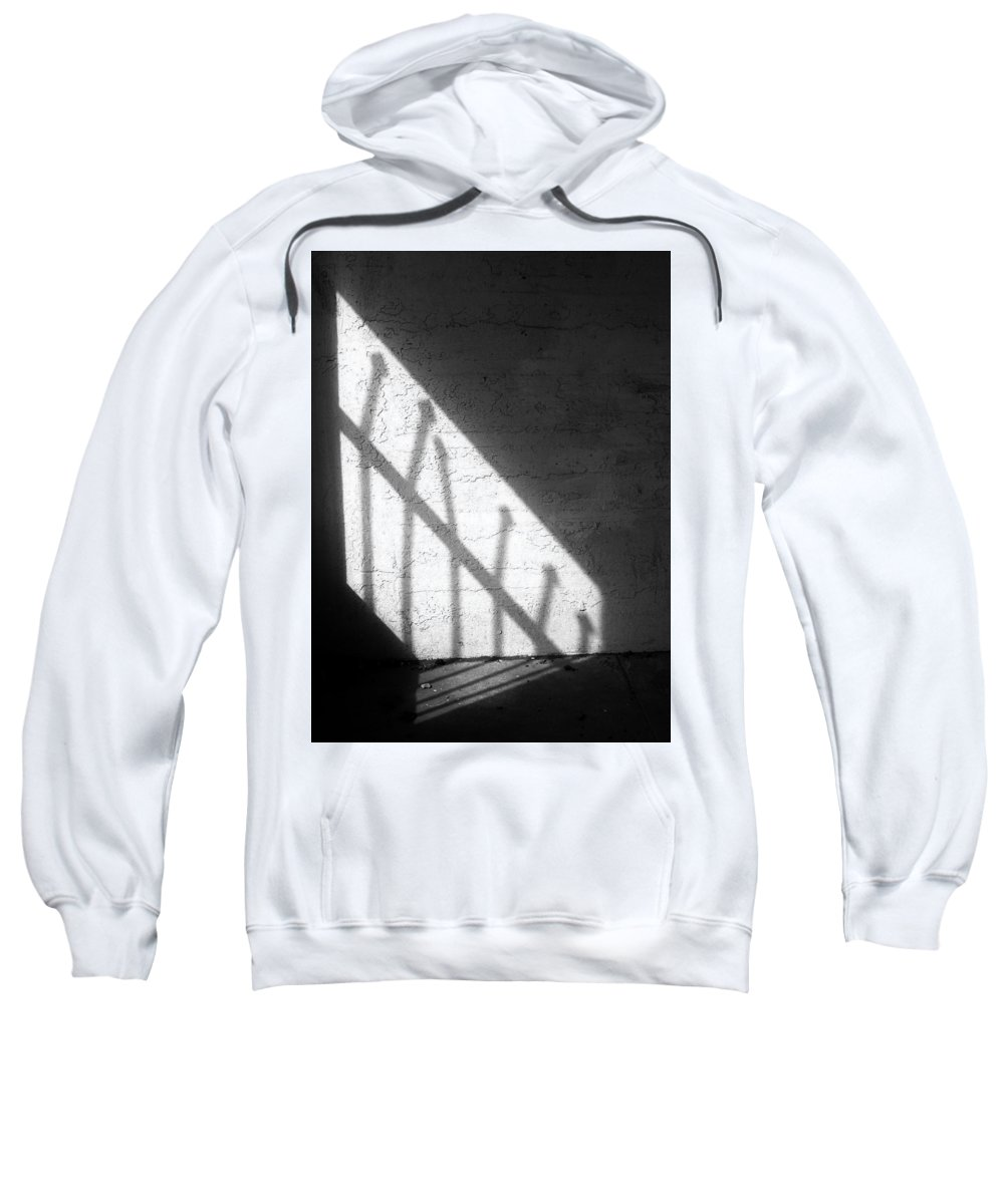 Abstract Sweatshirt featuring the photograph Cellbar Shadows by David DeMarco