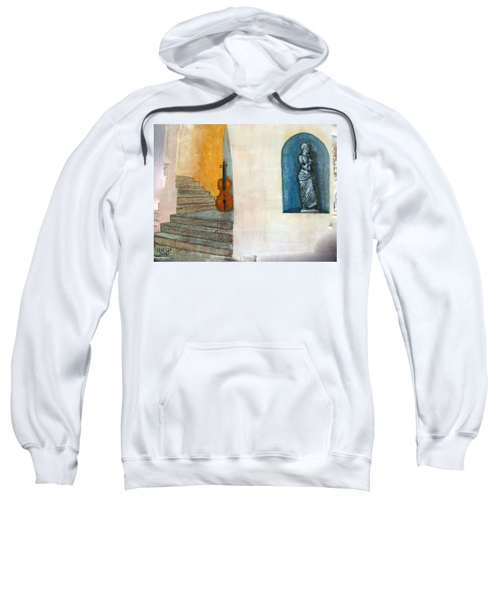 Cello Sweatshirt featuring the painting Cello No 2 by Richard Le Page