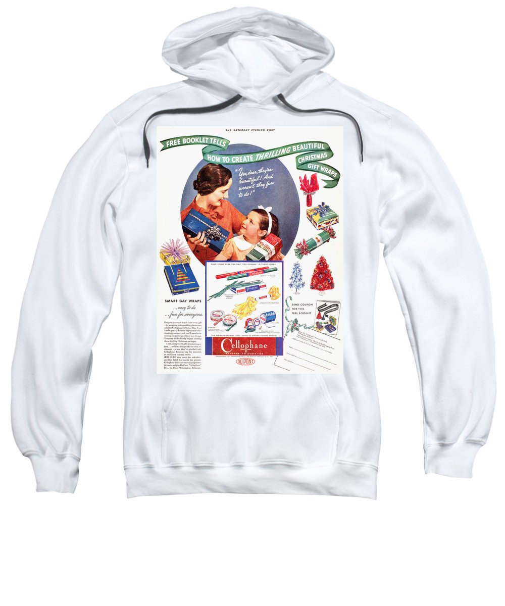 1937 Sweatshirt featuring the photograph Cellophane, 1937 by Granger