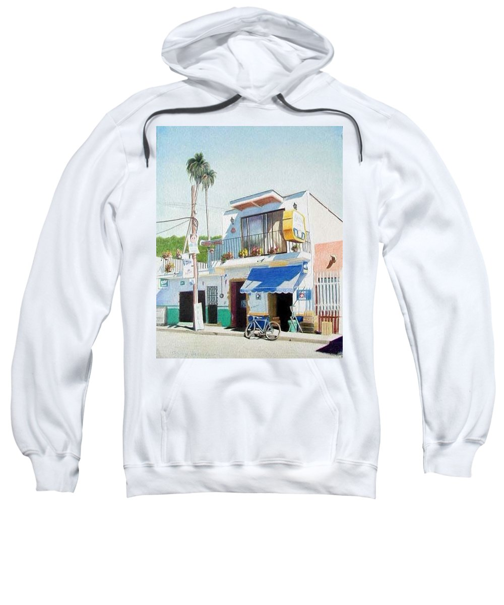 Trees Sweatshirt featuring the mixed media Chapala Store by Constance Drescher