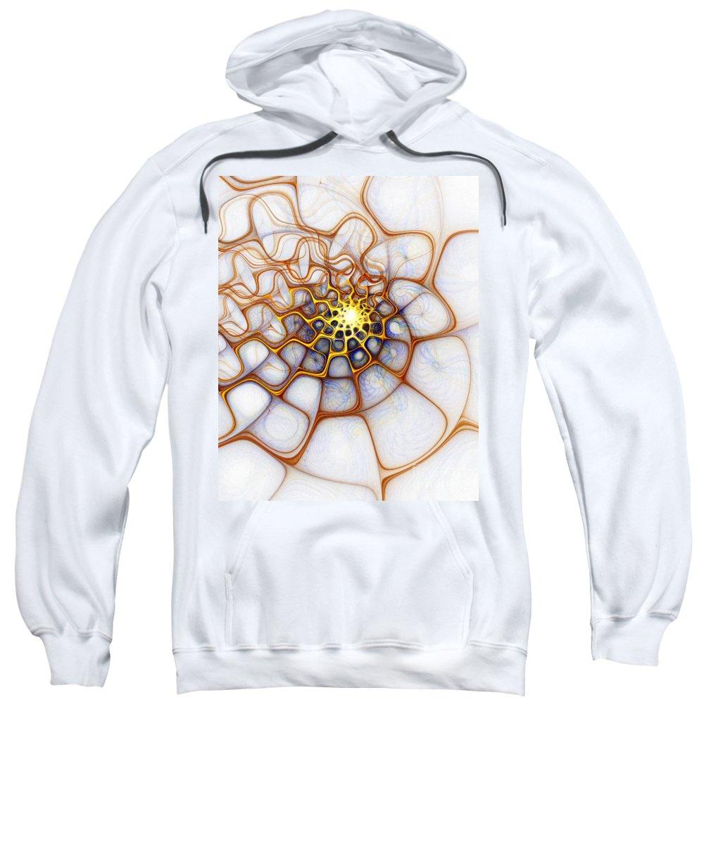 Digital Art Sweatshirt featuring the digital art Charlotte's Web by Amanda Moore