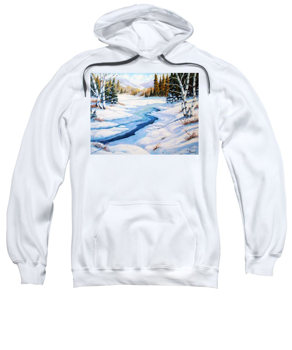 Winter Sweatshirt featuring the painting Charming Winter by Richard T Pranke
