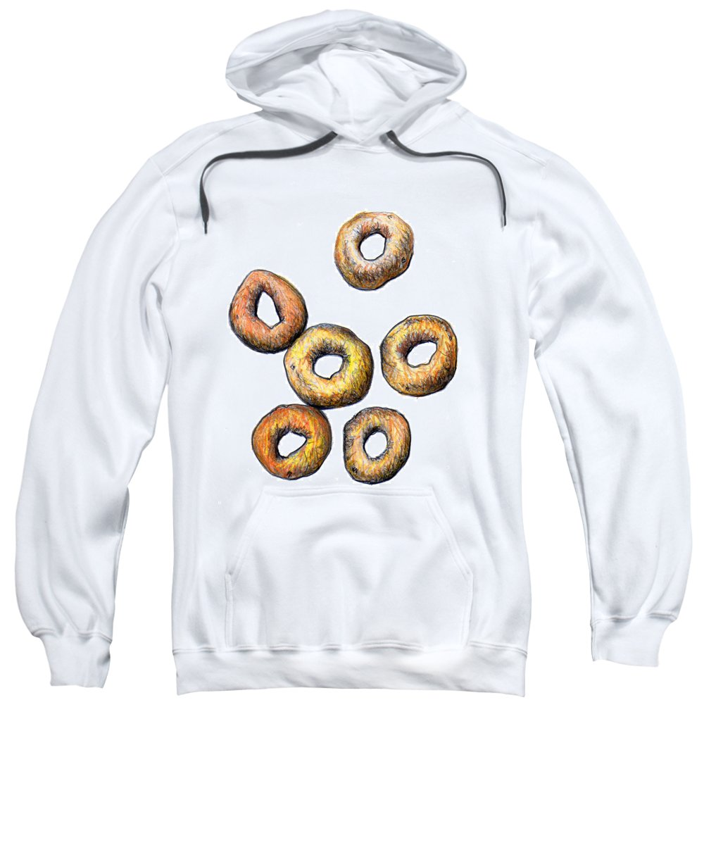 Cheerios Sweatshirt featuring the drawing Cheerios 2 by Nancy Mueller