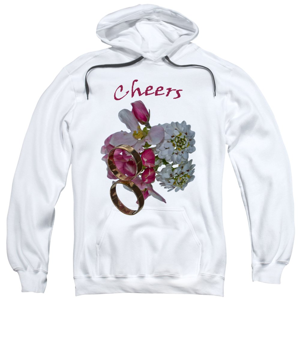 Congratulation Cards Sweatshirt featuring the photograph Cheers A Greeting Card by Dave Byrne