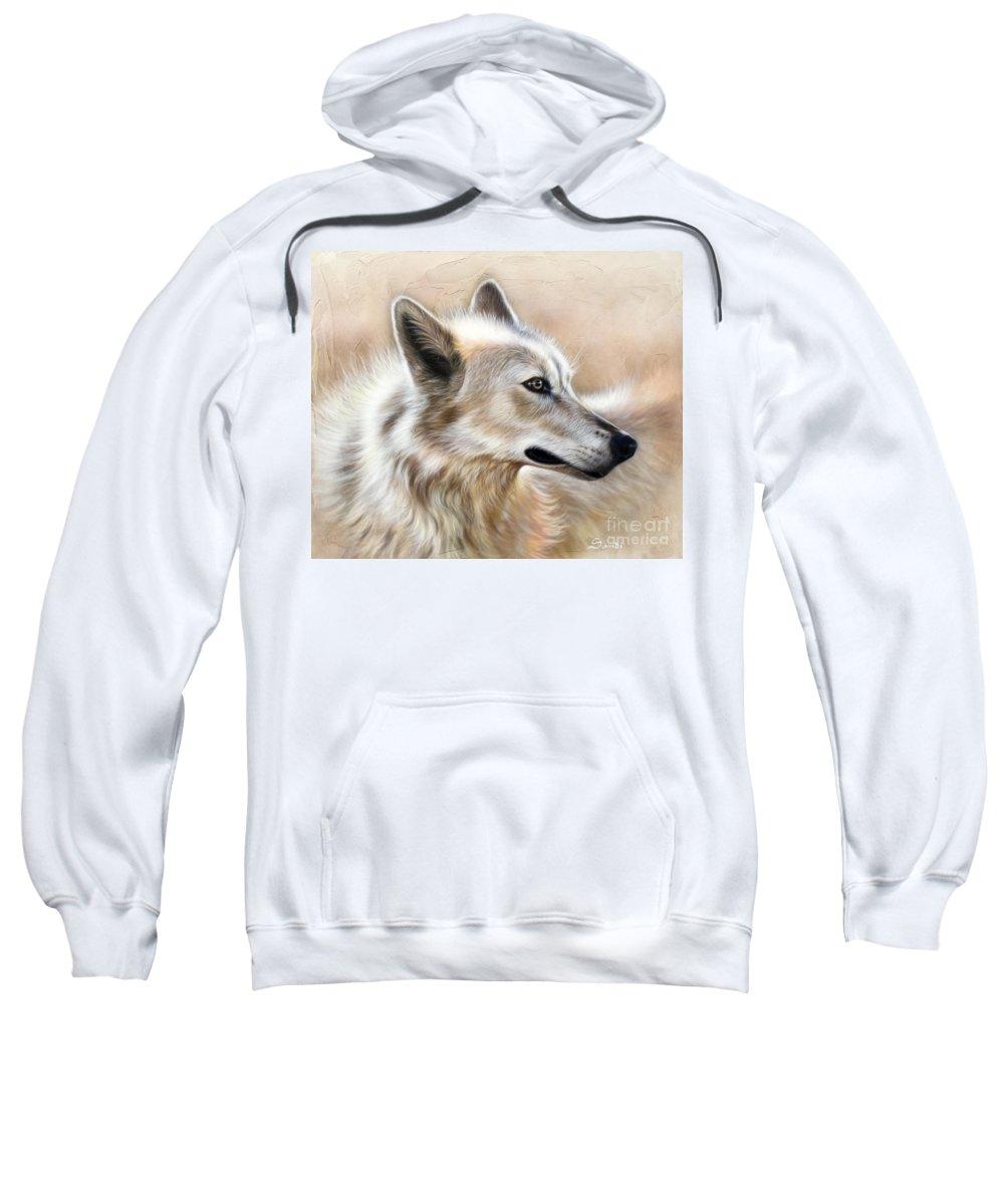Acrylic Sweatshirt featuring the painting Cheyenne by Sandi Baker