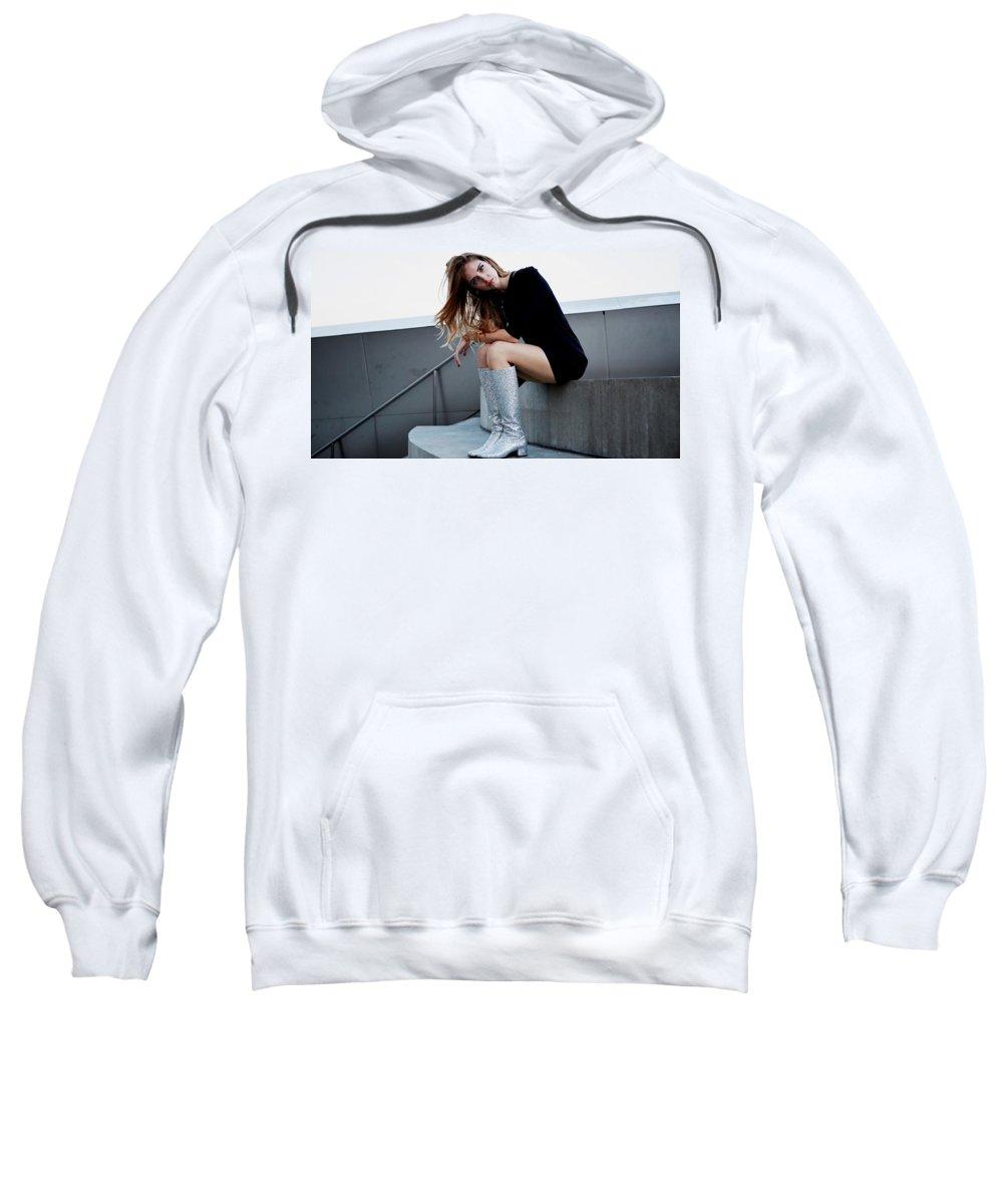 Chiara Ferragni Sweatshirt featuring the digital art Chiara Ferragni by Bert Mailer