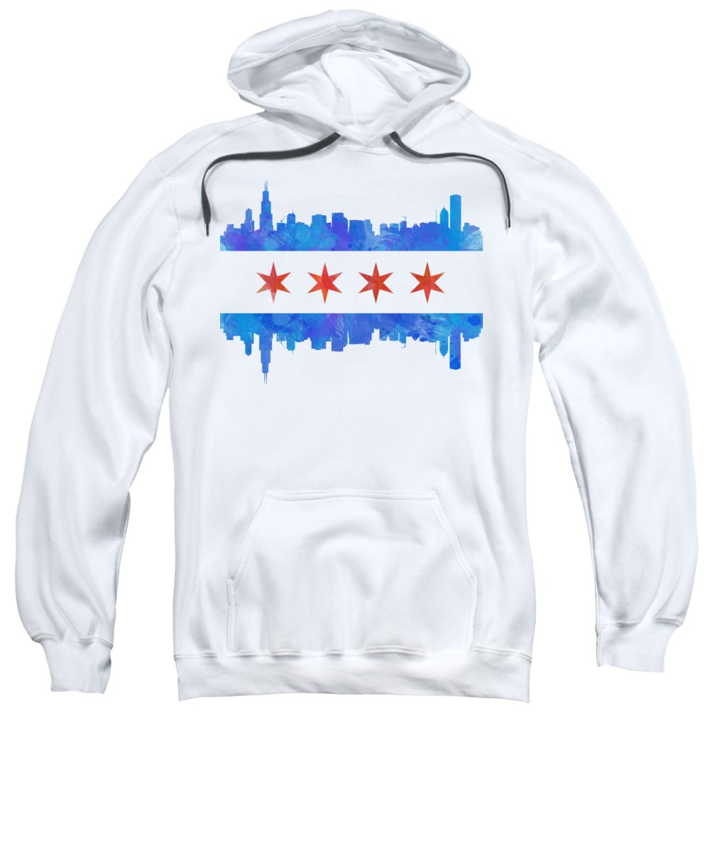 Chicago Skyline Hooded Sweatshirts T-Shirts