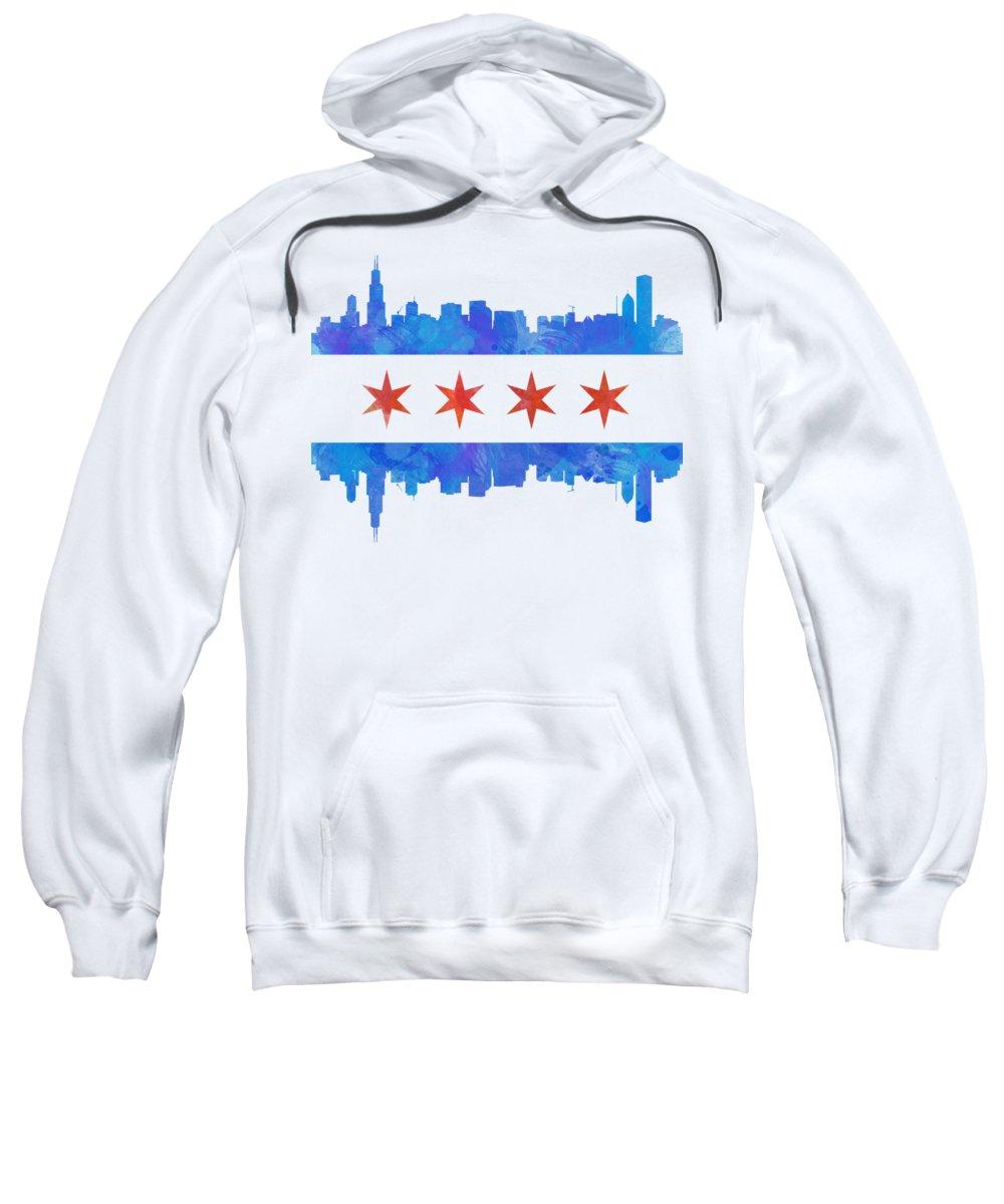Chicago Skyline Hooded Sweatshirts T-Shirts
