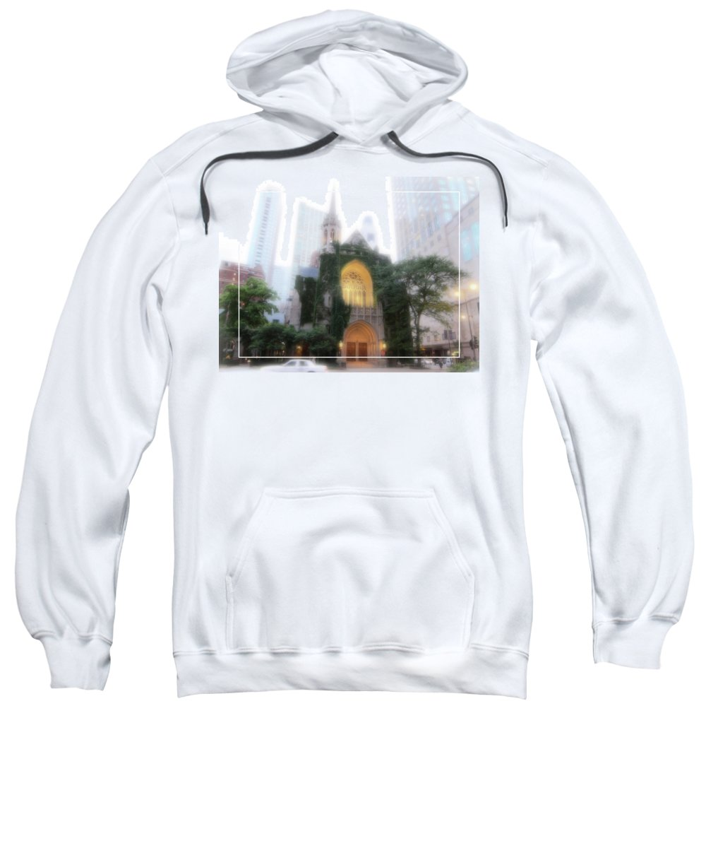 Chicago Sweatshirt featuring the photograph Chicago Mist by Douglas Barnard