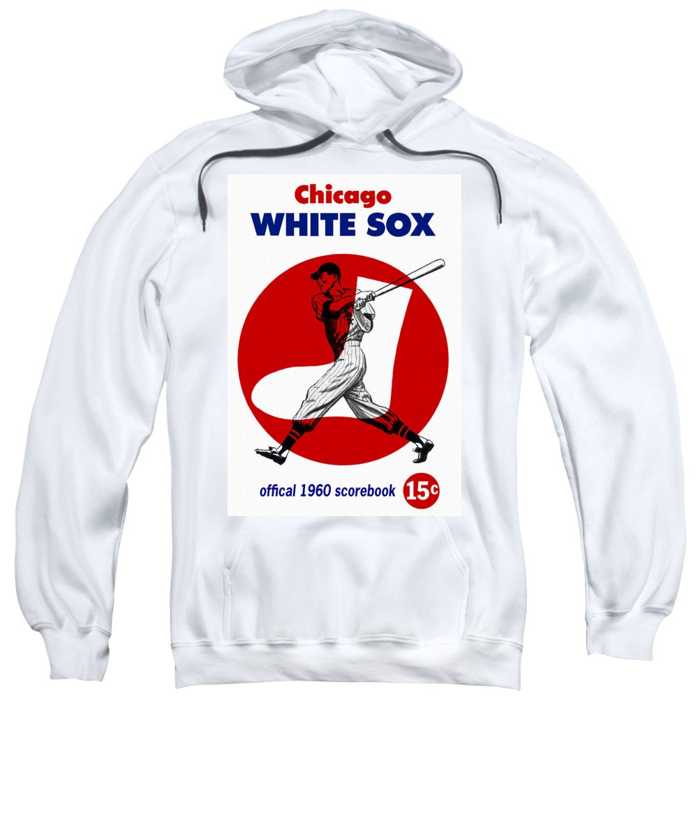 Chicago White Sox Sweatshirt featuring the painting Chicago White Sox 1960 Scorebook by John Farr