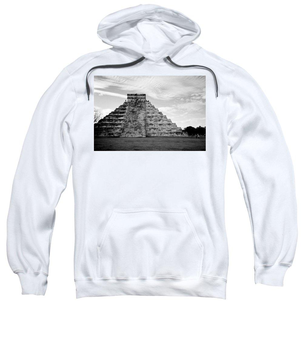 Mexico Sweatshirt featuring the photograph Chichen Itza B-w by Anita Burgermeister