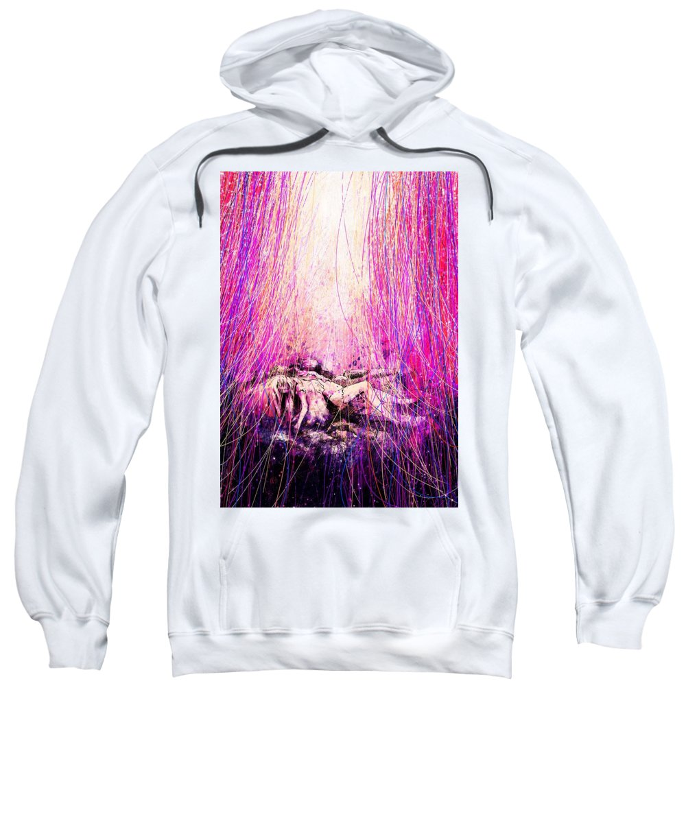 Abstract Sweatshirt featuring the digital art Child Of God by William Russell Nowicki