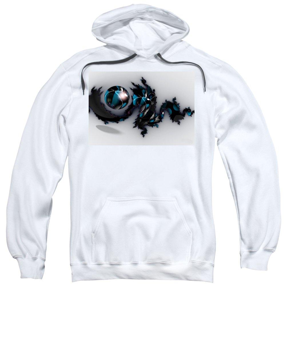 China Dragon Rythm Float Dance Sweatshirt featuring the digital art China Dragon by Veronica Jackson