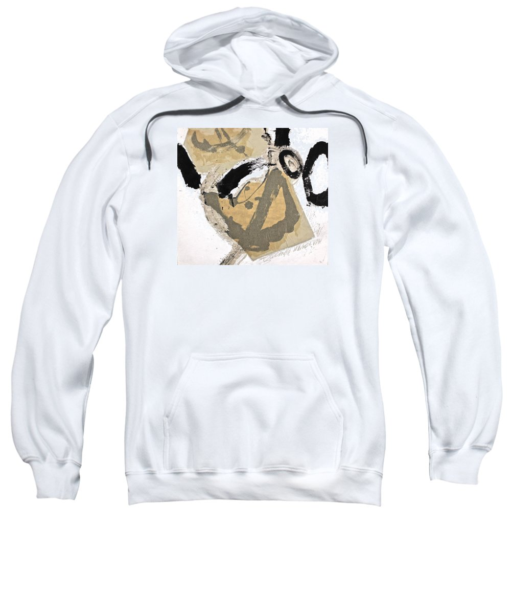Abstract Paintings Sweatshirt featuring the painting Chine Colle by Cliff Spohn