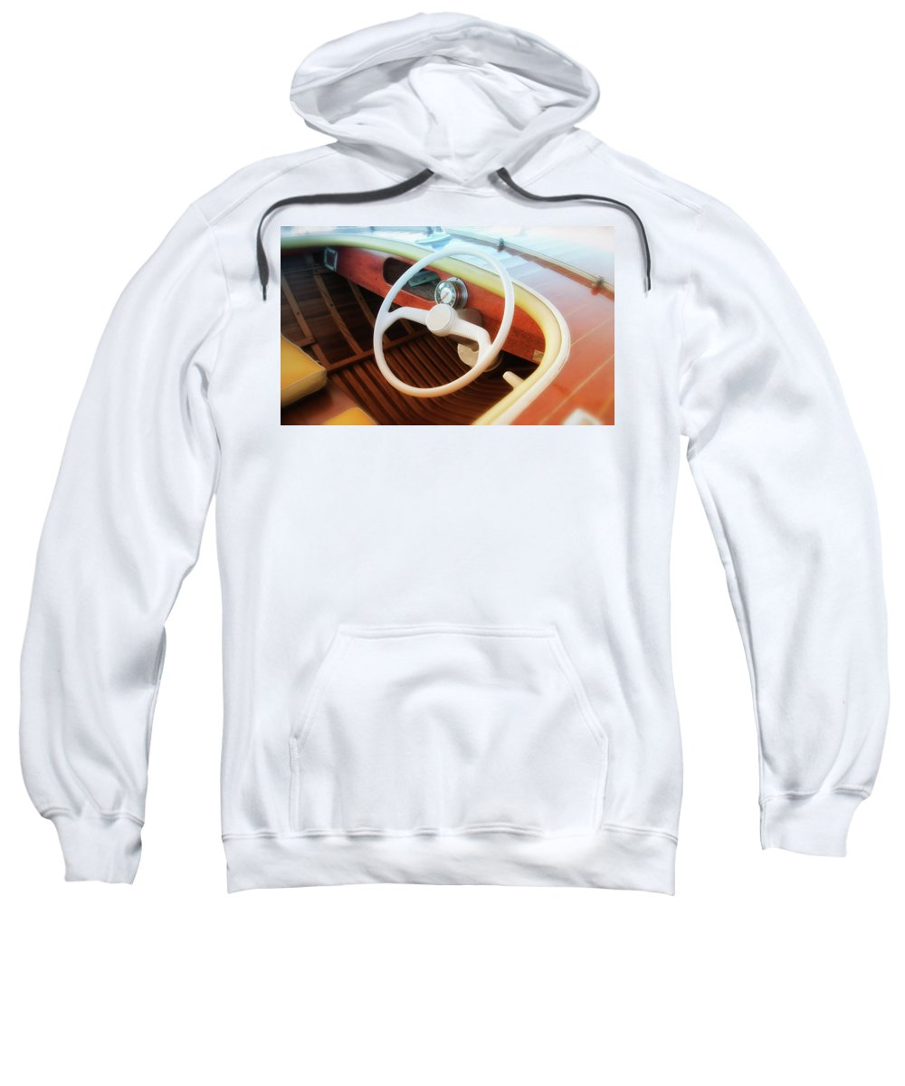 Wooden Sweatshirt featuring the photograph Chris Craft Dreaming by Savanah Plank